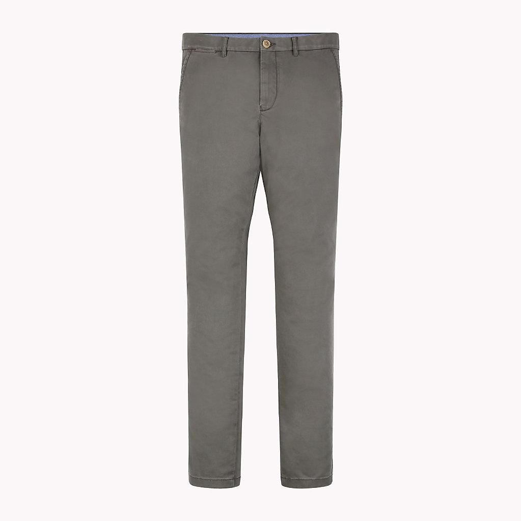 Tommy Hilfiger - Pantalón chino de algodón elástico y corte recto - 6