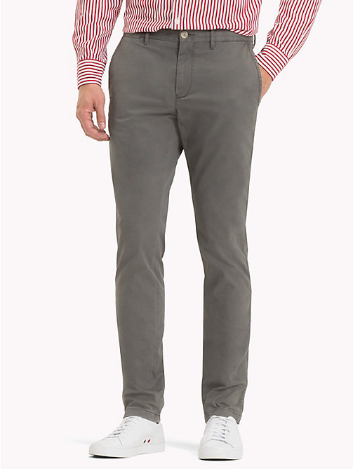 TOMMY HILFIGER Stretch Cotton Straight Fit Chinos - EIFFEL TOWER 18-5210 - TOMMY HILFIGER Sustainable Evolution - main image