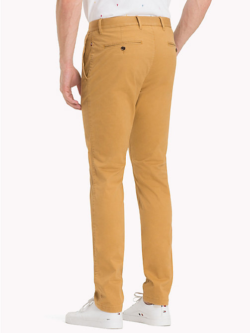 TOMMY HILFIGER Stretch Cotton Straight Fit Chinos - DIJON 17-1125 - TOMMY HILFIGER Trousers & Shorts - detail image 1