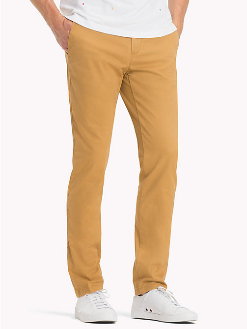 TOMMY HILFIGER Stretch Cotton Straight Fit Chinos - DIJON 17-1125 - TOMMY HILFIGER Sustainable Evolution - main image