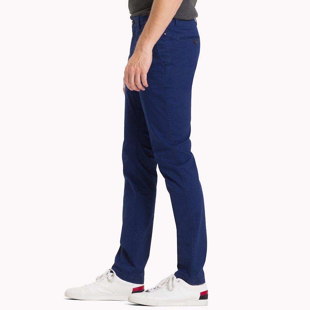 Tommy Hilfiger - Pantalón chino de algodón elástico y corte recto - 3
