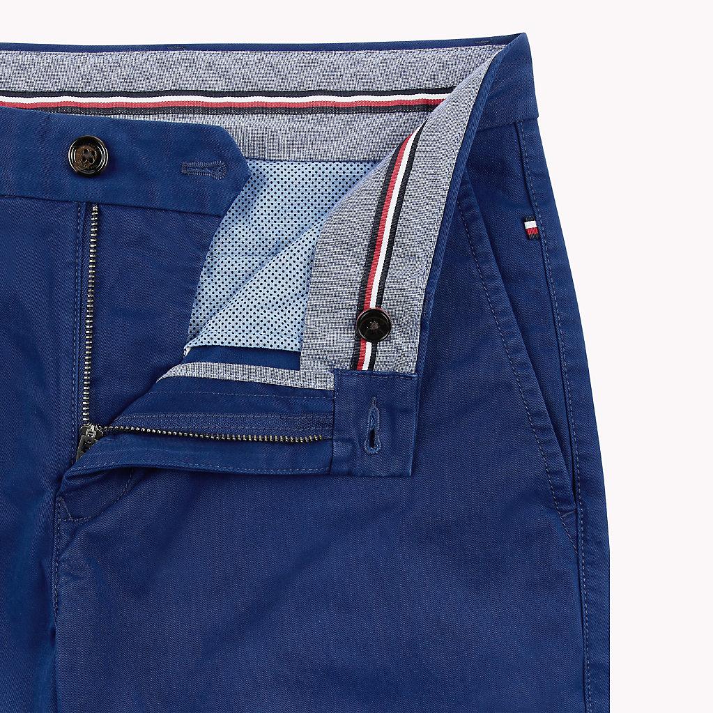 Tommy Hilfiger - Pantalón chino de algodón elástico y corte recto - 5