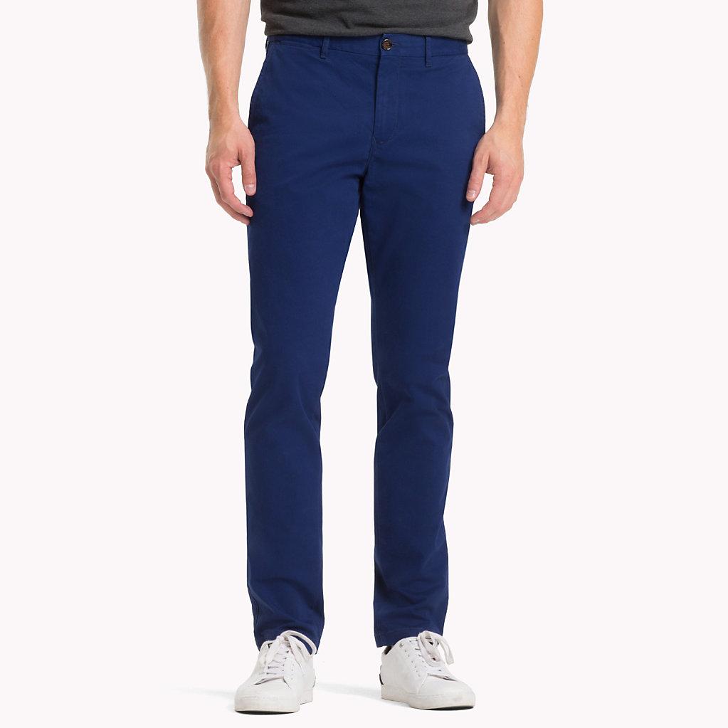 Tommy Hilfiger - Pantalón chino de algodón elástico y corte recto - 1