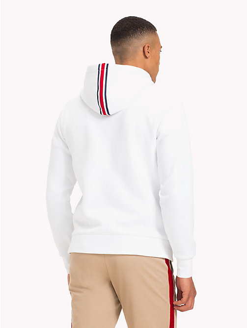 TOMMY HILFIGER Lewis Hamilton Flag Logo Hoodie - BRIGHT WHITE - TOMMY HILFIGER TOMMY NOW MEN - detail image 1