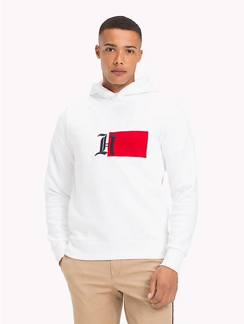 TOMMY HILFIGER Lewis Hamilton Flag Logo Hoodie - BRIGHT WHITE - TOMMY HILFIGER TOMMY NOW MEN - main image