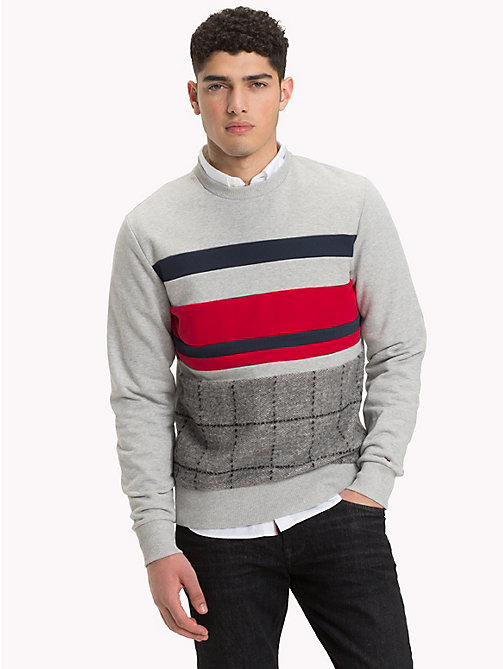 TOMMY HILFIGER Sweat à large appliqué - CLOUD HTR - TOMMY HILFIGER Vetements - image principale