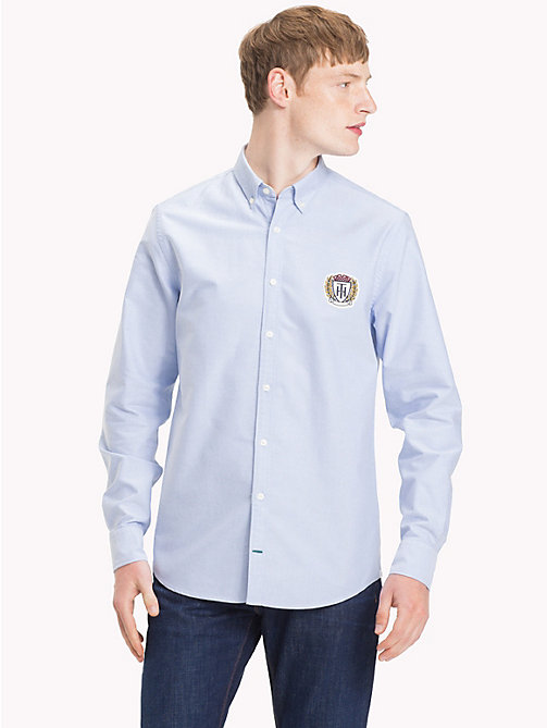 TOMMY HILFIGER Oxford Cotton Crest Shirt - SHIRT BLUE - TOMMY HILFIGER Casual Shirts - detail image 1
