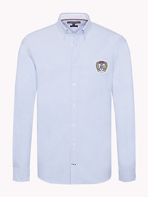 TOMMY HILFIGER Oxford Cotton Crest Shirt - SHIRT BLUE - TOMMY HILFIGER Casual Shirts - main image