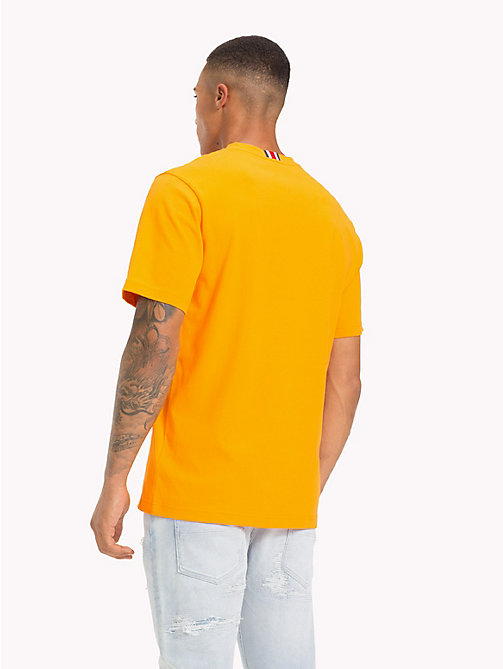 TOMMY HILFIGER Lewis Hamilton Loyalty Slogan T-Shirt - ORANGE POPSICLE - TOMMY HILFIGER TOMMY NOW MEN - detail image 1