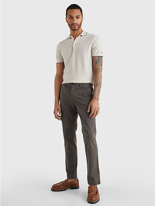 TOMMY HILFIGER Stretch Cotton Chinos - MAGNET - TOMMY HILFIGER NEW IN - detail image 1