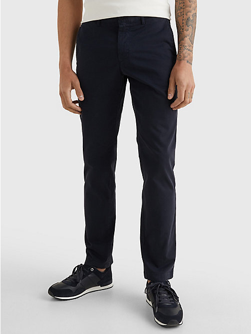 TOMMY HILFIGER Stretch Cotton Chinos - SKY CAPTAIN - TOMMY HILFIGER Chinos - main image