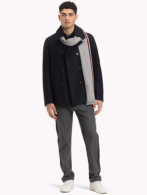 TOMMY HILFIGER Short Wool Pea Coat - SKY CAPTAIN - TOMMY HILFIGER Coats - detail image 1
