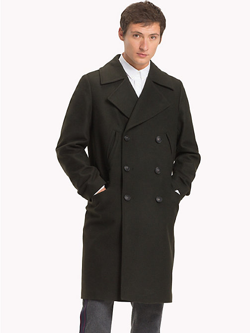 TOMMY HILFIGER Long Double-Breasted Coat - ROSIN - TOMMY HILFIGER Coats - main image