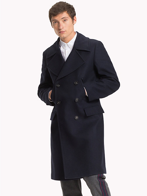 TOMMY HILFIGER Long Double-Breasted Coat - SKY CAPTAIN - TOMMY HILFIGER NEW IN - main image