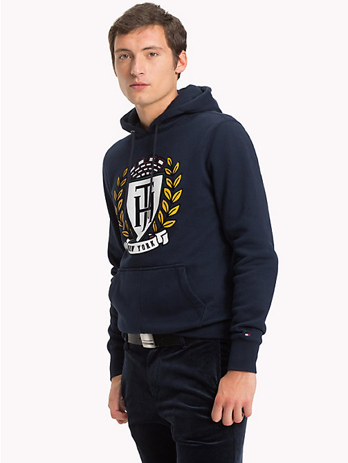 TOMMY HILFIGER Crest Hoody - SKY CAPTAIN - TOMMY HILFIGER NEW IN - main image