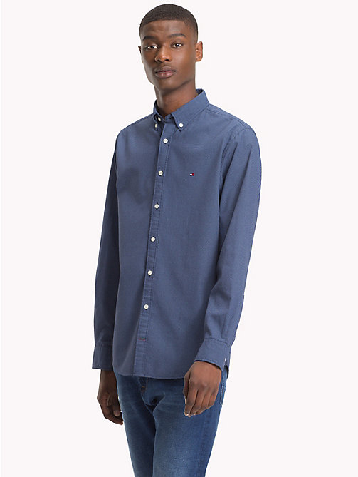 TOMMY HILFIGER Button-Down Dot Print Shirt - BLUE DEPTHS / SHIRT BLUE - TOMMY HILFIGER Clothing - detail image 1