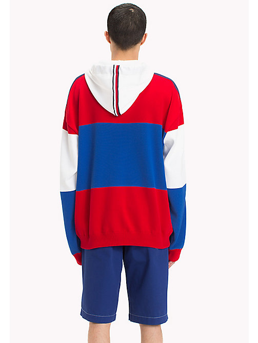 HILFIGER COLLECTION Oversized Flag Hoodie - BARBADOS CHERRY - HILFIGER COLLECTION HILFIGER COLLECTION - detail image 1