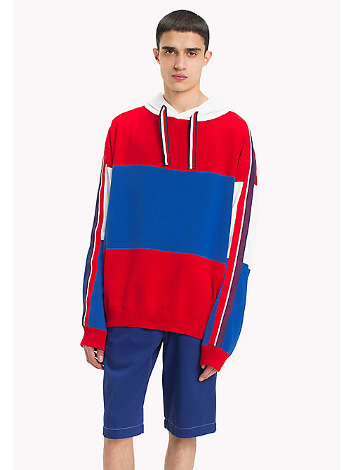 HILFIGER COLLECTION Oversized Flag Hoodie - BARBADOS CHERRY - HILFIGER COLLECTION HILFIGER COLLECTION - main image