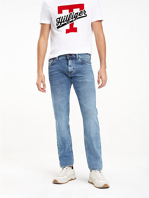 TOMMY HILFIGER Bleecker Faded Slim Fit Jeans - PAYETTE BLUE - TOMMY HILFIGER Slim-Fit Jeans - main image