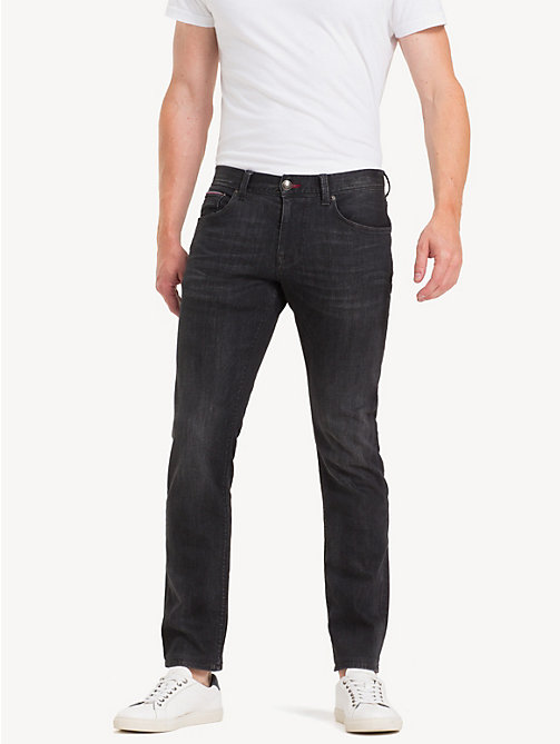 TOMMY HILFIGER Denton Straight Fit Jeans - ARIMO BLACK - TOMMY HILFIGER Straight-Fit Jeans - main image