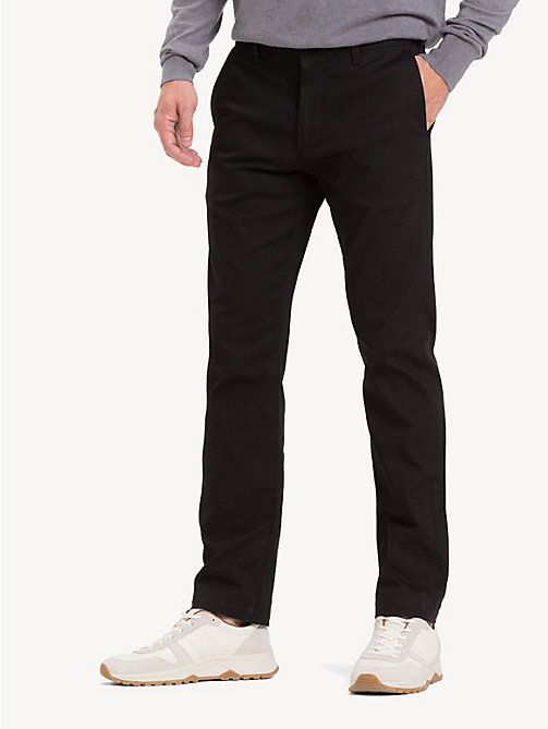 TOMMY HILFIGER Chino extensible coupe décontractée - CLEAN BLACK - TOMMY HILFIGER Vêtements - image principale