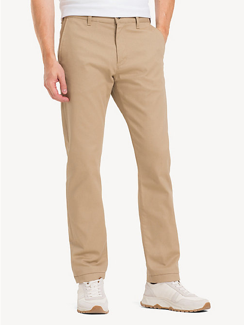 TOMMY HILFIGER Relaxed Fit Stretch Chinos - CLEAN BEIGE - TOMMY HILFIGER Regular-Fit Jeans - main image