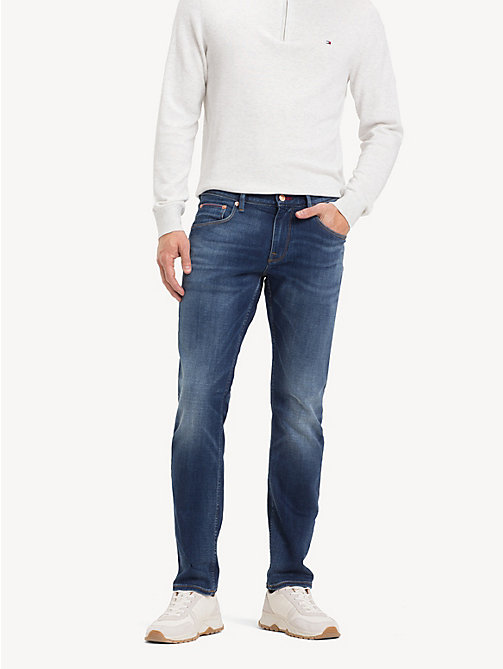 TOMMY HILFIGER Denton TH Flex Straight Fit Jeans - STITES BLUE - TOMMY HILFIGER NEW IN - main image
