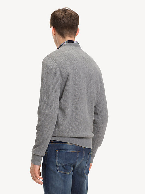 TOMMY HILFIGER Crew Neck Sweater - SILVER FOG HTR - TOMMY HILFIGER NEW IN - detail image 1