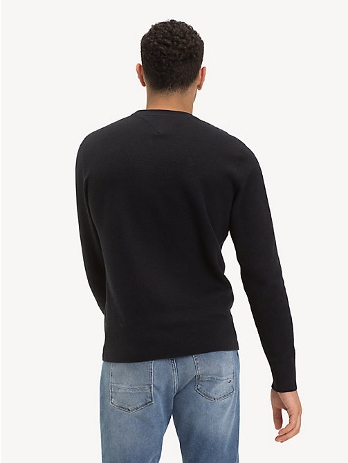 TOMMY HILFIGER Crew Neck Sweater - JET BLACK - TOMMY HILFIGER Jumpers - detail image 1