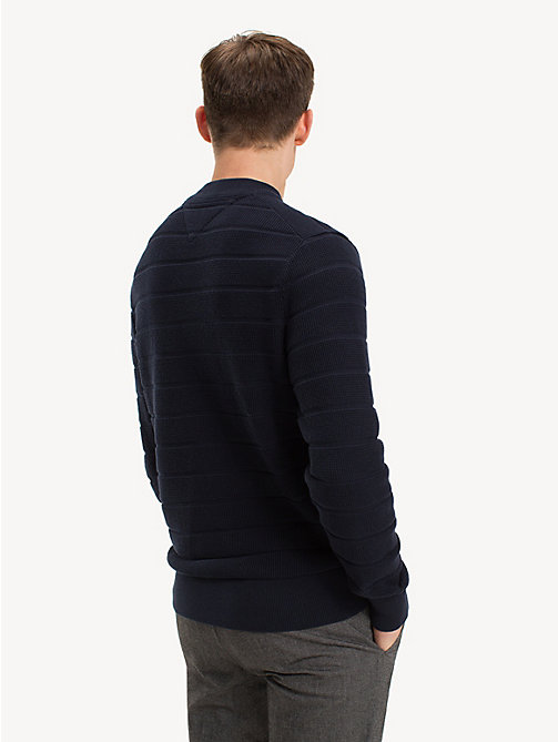 TOMMY HILFIGER Stripe Crew Neck Jumper - SKY CAPTAIN - TOMMY HILFIGER NEW IN - detail image 1