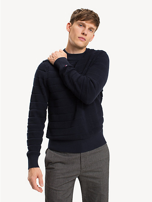TOMMY HILFIGER Stripe Crew Neck Jumper - SKY CAPTAIN - TOMMY HILFIGER NEW IN - main image