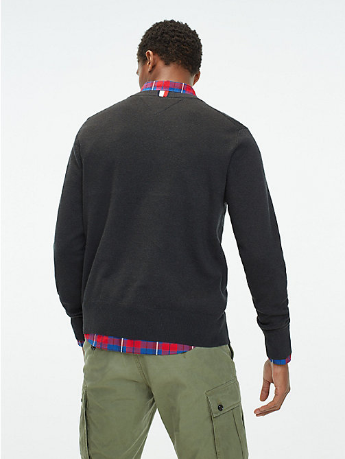 TOMMY HILFIGER Relaxed Fit Crew Neck Jumper - CHARCOAL HTR - TOMMY HILFIGER Jumpers - detail image 1
