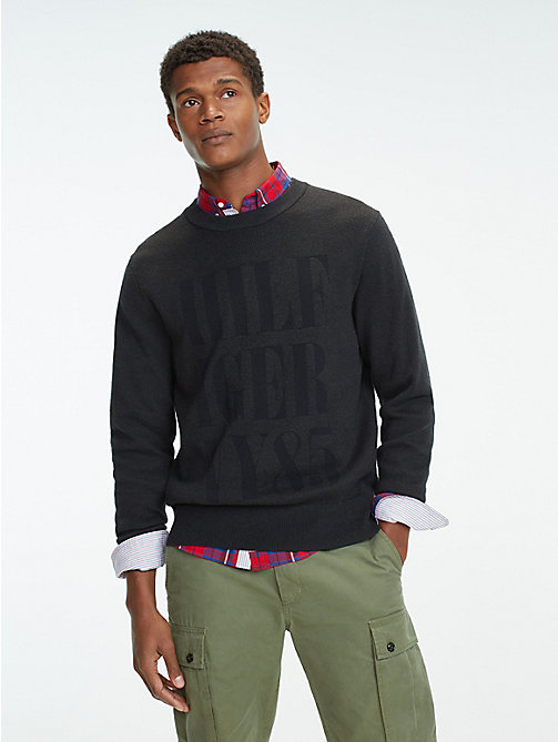 TOMMY HILFIGER Relaxed Fit Crew Neck Jumper - CHARCOAL HTR - TOMMY HILFIGER Jumpers - main image