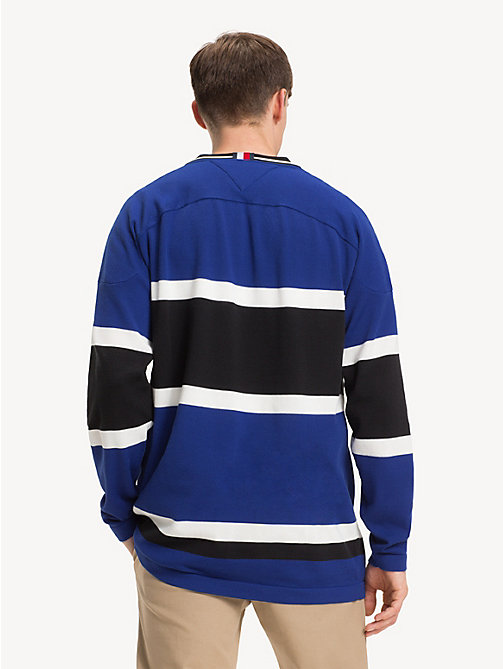 TOMMY HILFIGER Oversized V-Neck Hockey Jersey - SURF THE WEB - TOMMY HILFIGER Winter Warmers - detail image 1