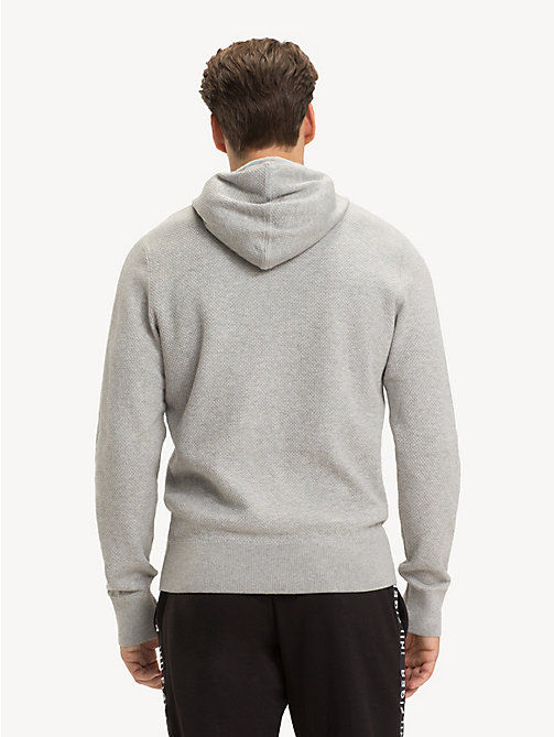TOMMY HILFIGER Structured Pure Cotton Hoody - CLOUD HTR - TOMMY HILFIGER Hoodies - detail image 1