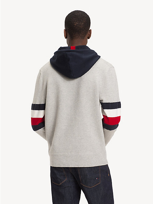 TOMMY HILFIGER Relaxed fit hoodie met colour-blocking - CLOUD HTR - TOMMY HILFIGER NIEUW - detail image 1
