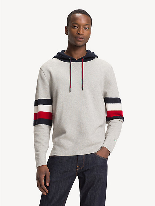 TOMMY HILFIGER Relaxed Fit Colour-Blocked Hoody - CLOUD HTR - TOMMY HILFIGER NEW IN - main image