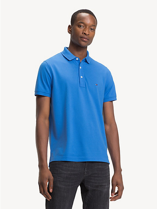 TOMMY HILFIGER Pure Cotton Slim Fit Polo - REGATTA - TOMMY HILFIGER Polo Shirts - main image