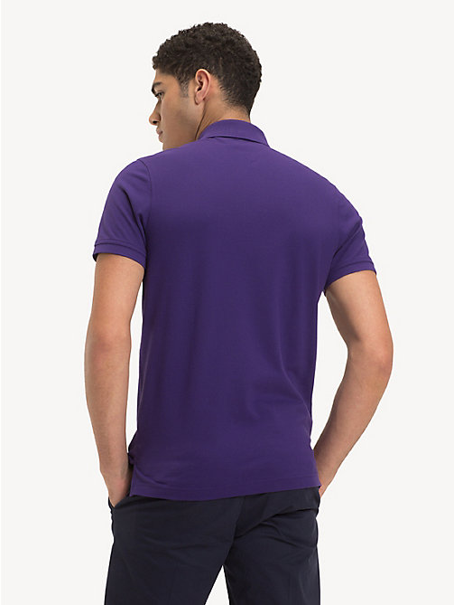 TOMMY HILFIGER Pure Cotton Slim Fit Polo - PARACHUTE PURPLE - TOMMY HILFIGER Polo Shirts - detail image 1
