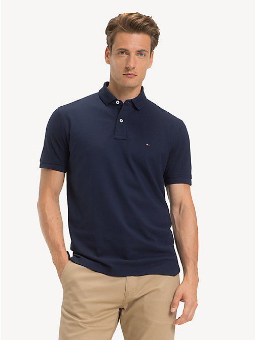 TOMMY HILFIGER Button-Down Polo Shirt - BLACK IRIS - TOMMY HILFIGER NEW IN - main image