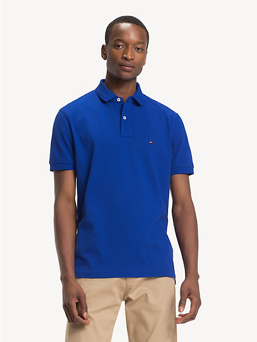 TOMMY HILFIGER Button-Down Polo Shirt - SURF THE WEB - TOMMY HILFIGER Polo Shirts - main image
