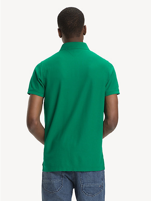 TOMMY HILFIGER Pure Cotton Slim Fit Polo Shirt - ULTRAMARINE GREEN - TOMMY HILFIGER NEW IN - detail image 1