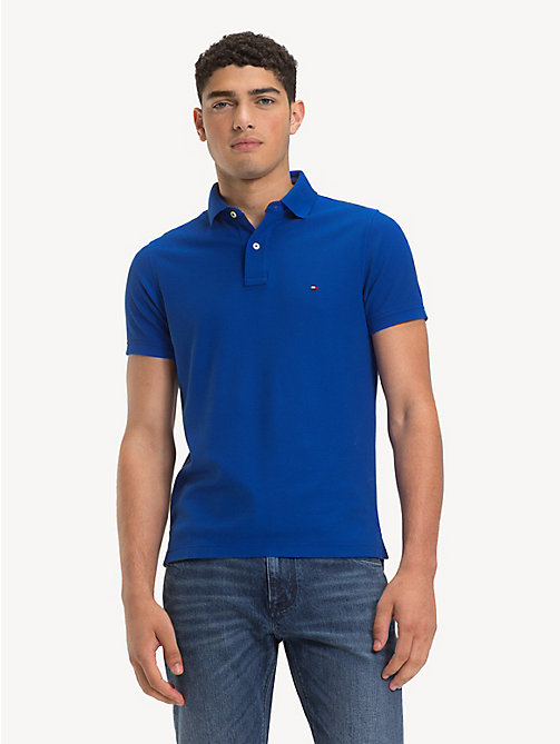 TOMMY HILFIGER Pure Cotton Slim Fit Polo Shirt - SURF THE WEB - TOMMY HILFIGER Polo Shirts - main image