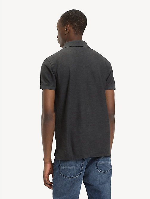 TOMMY HILFIGER Pure Cotton Regular Fit Polo - CHARCOAL HTR - TOMMY HILFIGER Polo Shirts - detail image 1