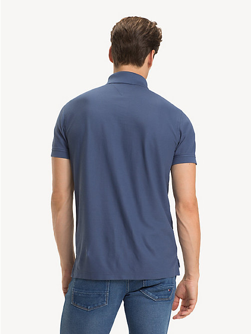 TOMMY HILFIGER Pure Cotton Regular Fit Polo - VINTAGE INDIGO - TOMMY HILFIGER Polo Shirts - detail image 1