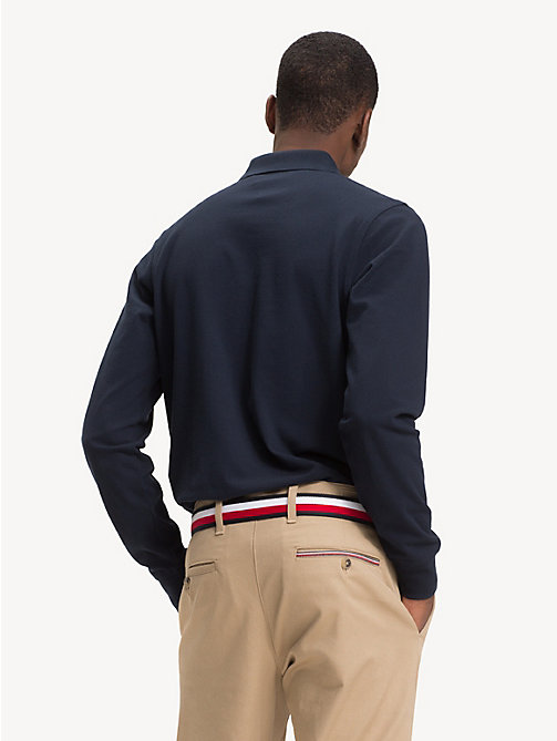 TOMMY HILFIGER Slim Fit Long-Sleeve Polo Shirt - SKY CAPTAIN - TOMMY HILFIGER NEW IN - detail image 1