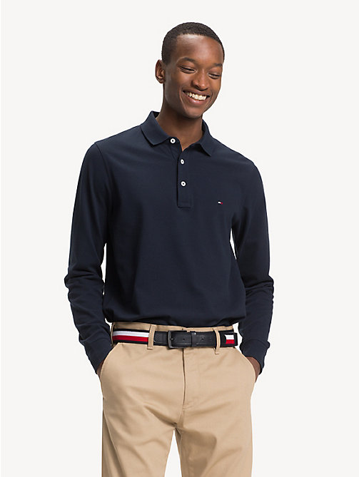 TOMMY HILFIGER Slim Fit Long-Sleeve Polo Shirt - SKY CAPTAIN - TOMMY HILFIGER NEW IN - main image