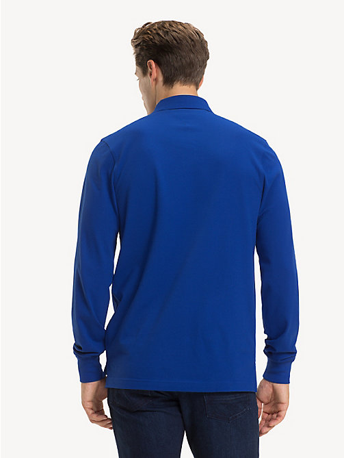 TOMMY HILFIGER Slim Fit Long-Sleeve Polo Shirt - SURF THE WEB - TOMMY HILFIGER Polo Shirts - detail image 1