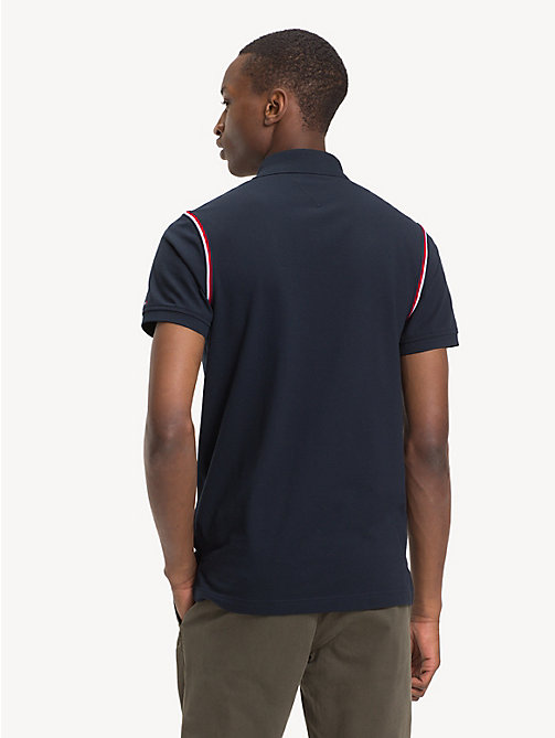 TOMMY HILFIGER Pure Cotton Slim Fit Polo Shirt - SKY CAPTAIN - TOMMY HILFIGER Polo Shirts - detail image 1