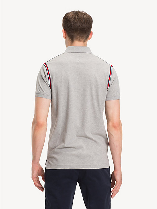 TOMMY HILFIGER Pure Cotton Slim Fit Polo Shirt - CLOUD HTR - TOMMY HILFIGER Polo Shirts - detail image 1